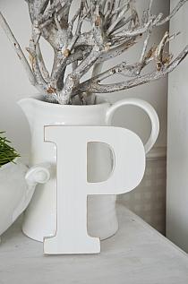 Litera P white