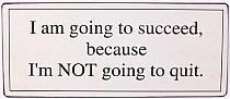 """Tabliczka metalowa """"I'am going to succeed"""""""