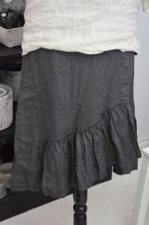 Linen skirt Grafite