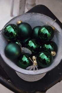 Bombka Green Silver