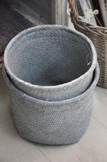 Kosz natural Grey