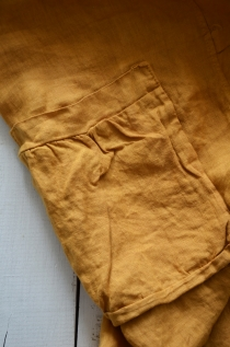 Linen dress Mustard 2